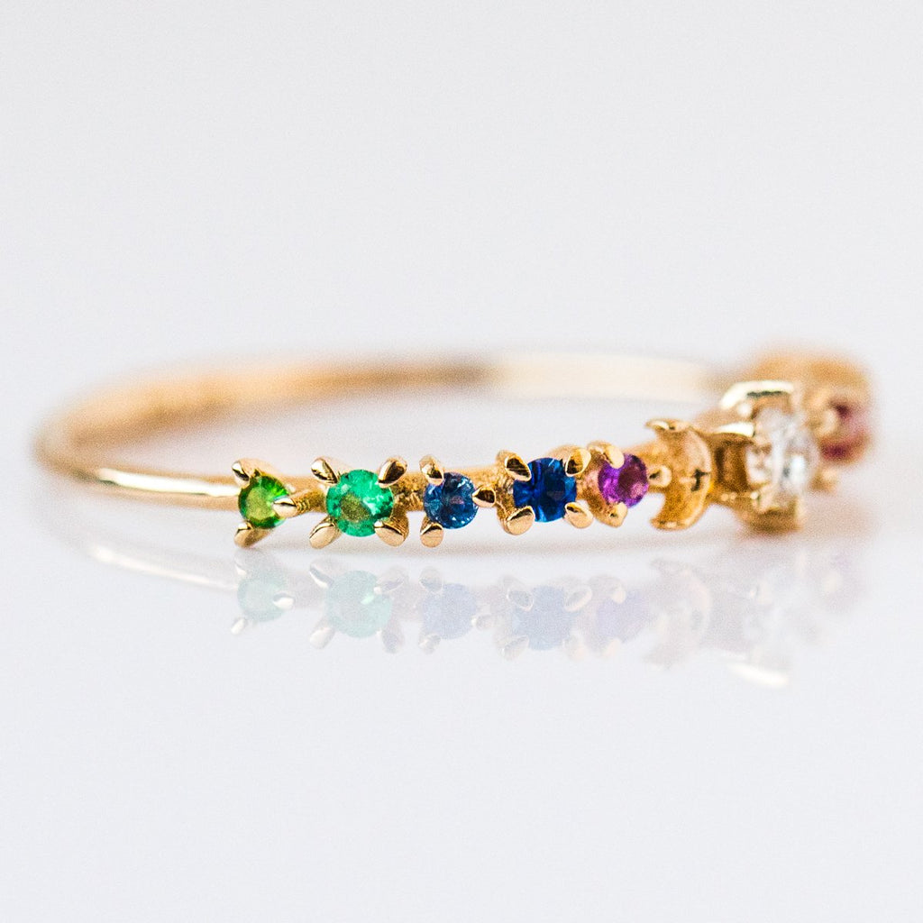 Rainbow Stardust Ring - rings - Sofia Zakia local eclectic