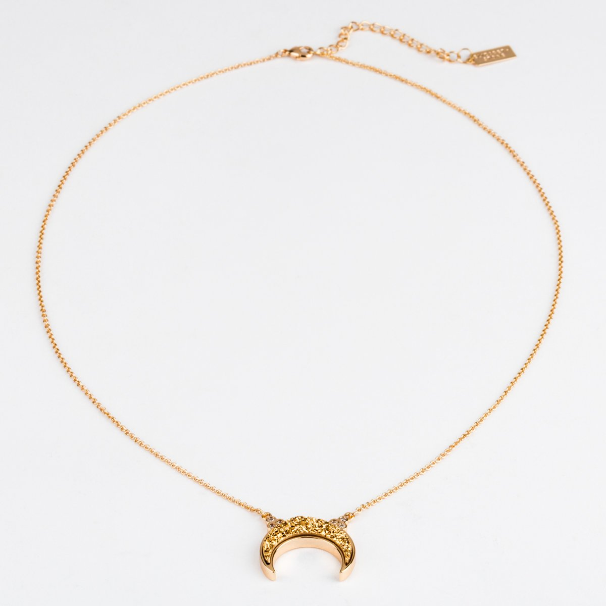 Titania Gold Druzy Necklace