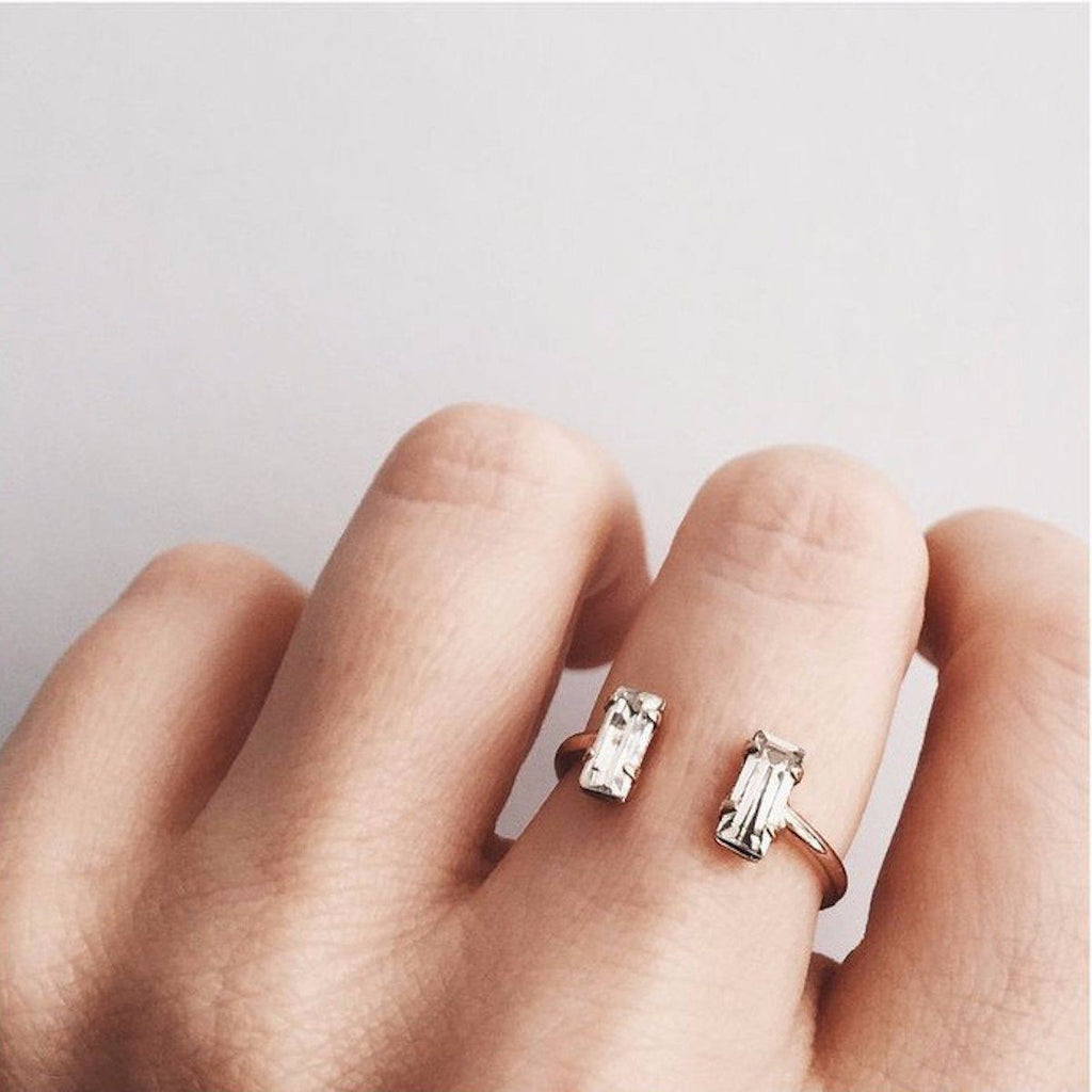 Double Baguette Ring - local eclectic  - 10