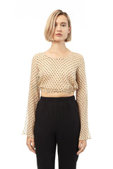 Flare Sleeve Crop Top