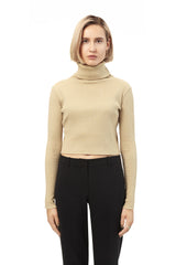 Ribbed Knit Camel Crop Top