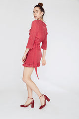 Flo Dress in Red