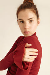 Merino Wool Turtle Neck Top
