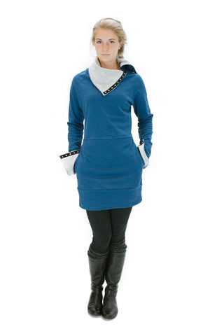 Snap-Tape Tunic - Sapphire - Coze Apparel