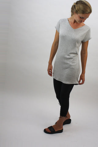 Angle-Seam Tunic - Heather Grey - Coze Apparel