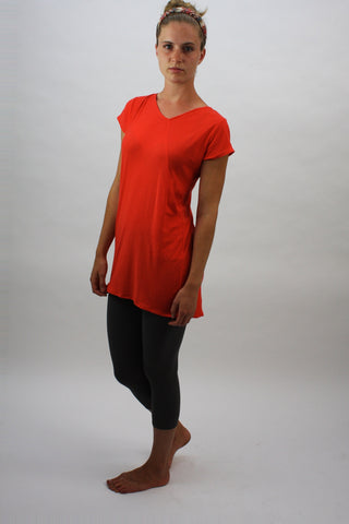 Angle-Seam Tunic - Tex Orange - Coze Apparel