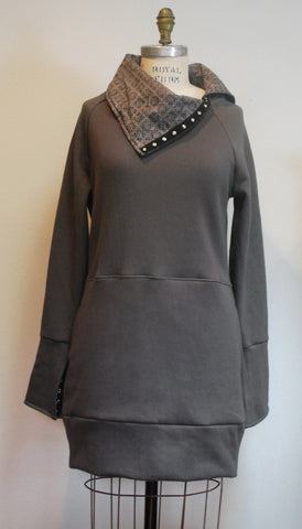 Snap-Tape Tunic - Charcoal - Coze Apparel