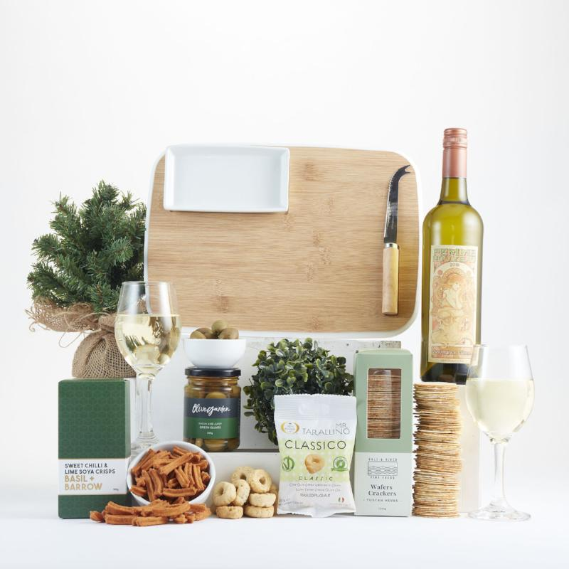 Cheeseboard and White Wine Entertainer Hamper