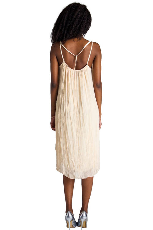 High Neck Strappy Midi Dress