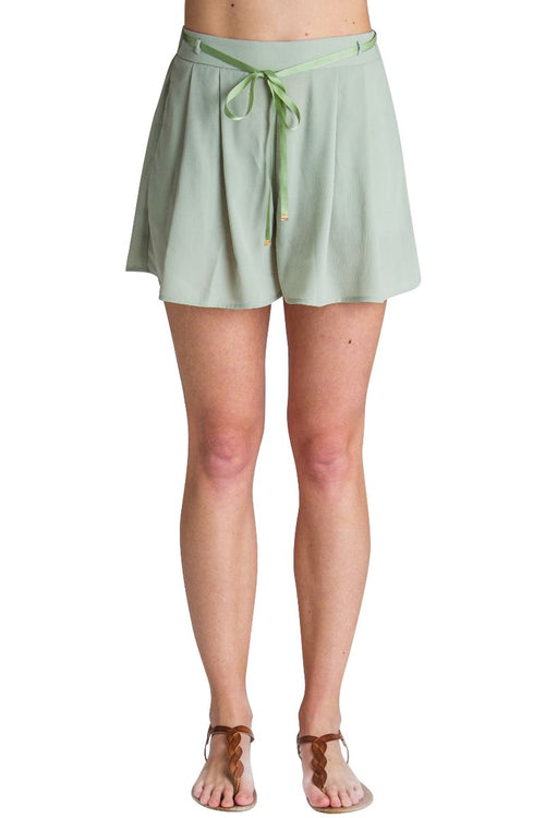 High Rise Drawstring Shorts