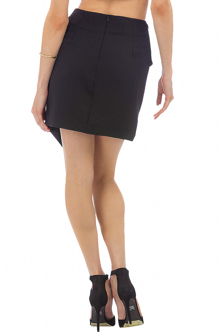 Side-Tie Mini Skirt