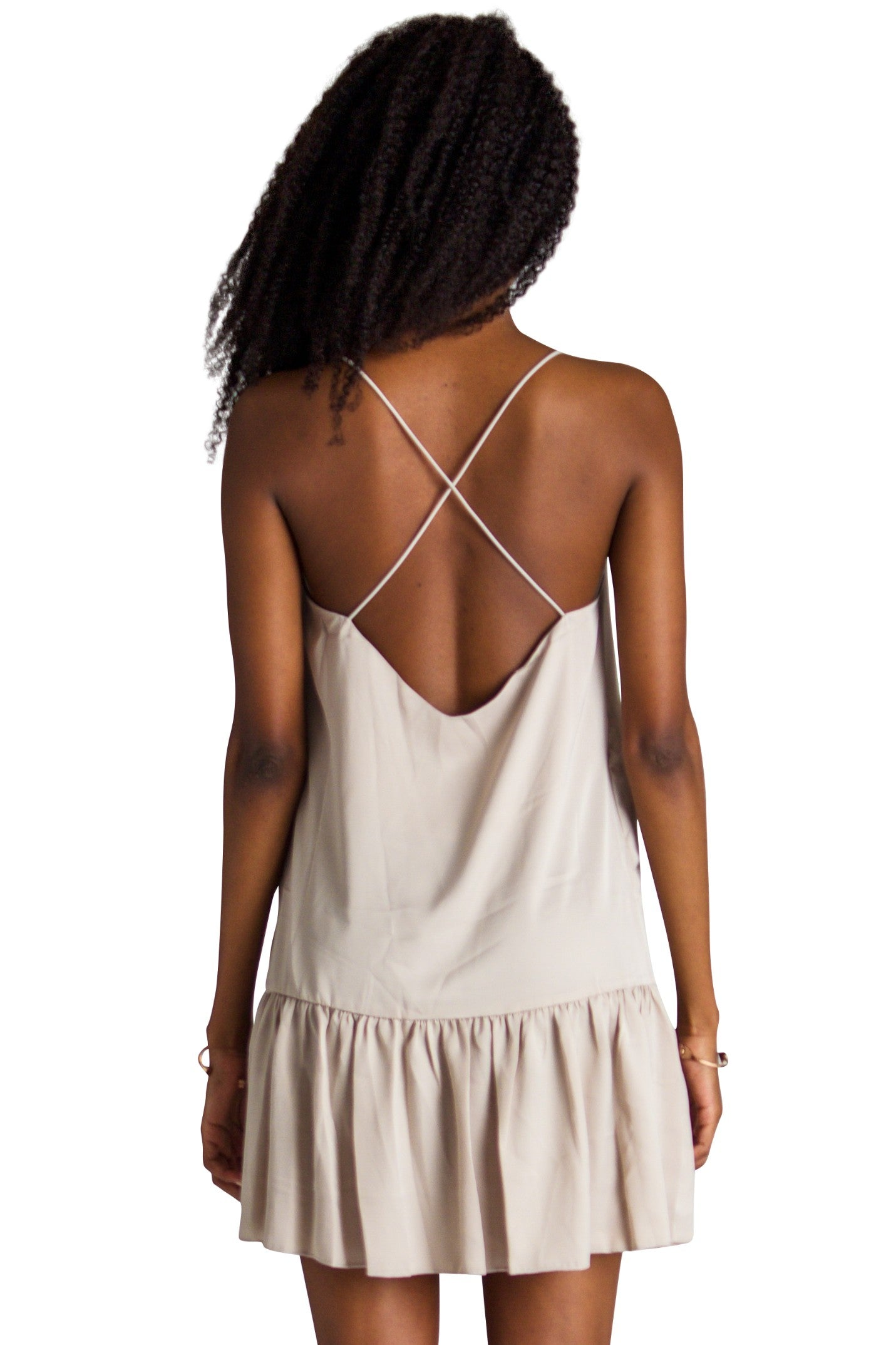 Cross Back Peplum Dress