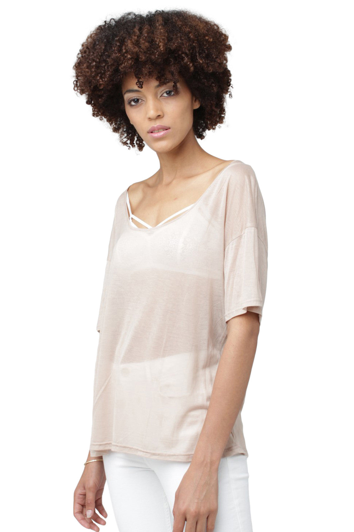 Sheer Cotton T-Shirt