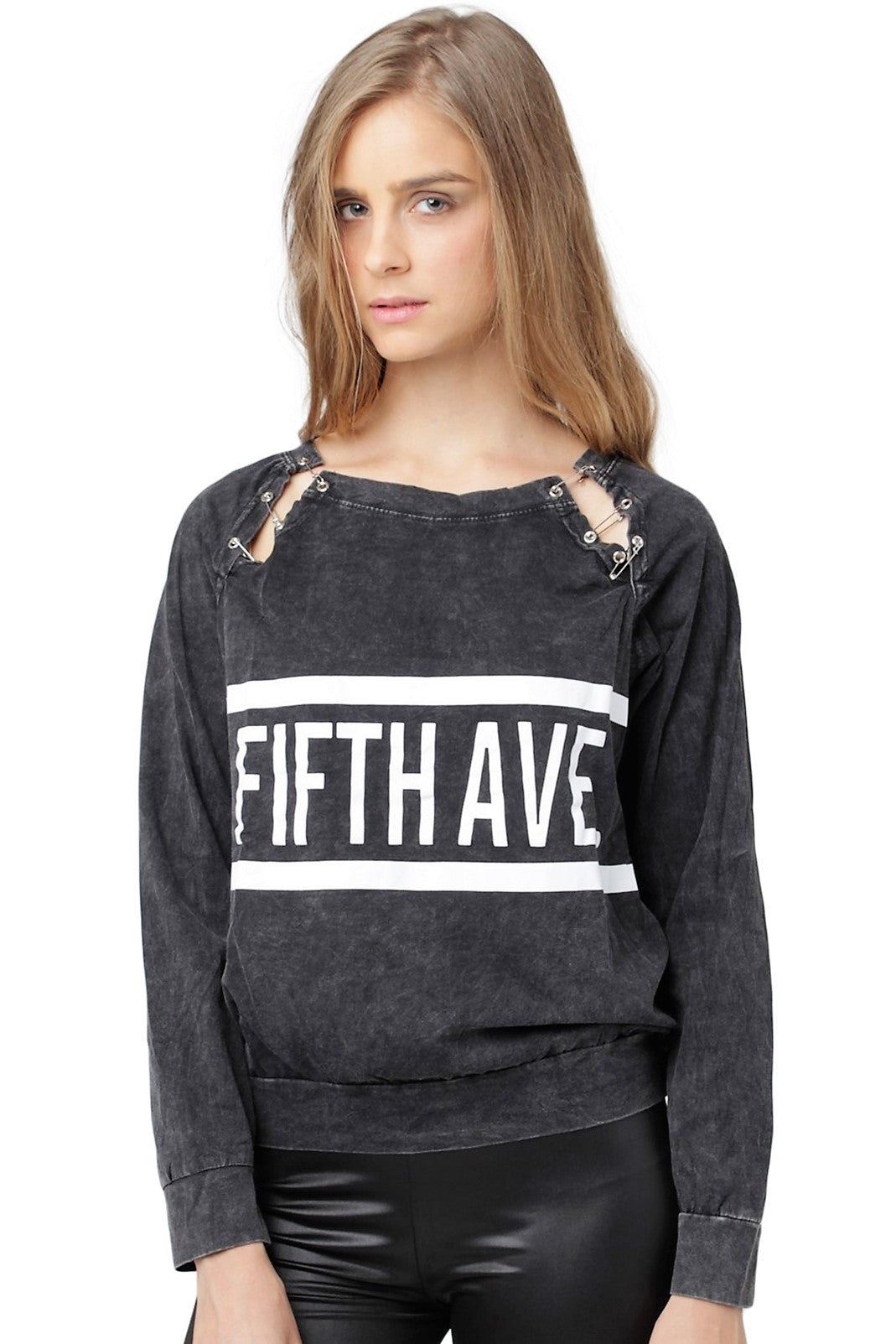 'Fifth Ave' Pins Pullover