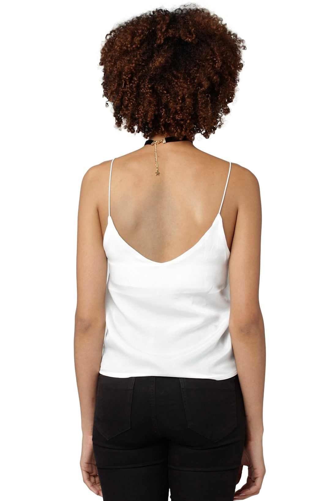 Solid Strappy Tank // White