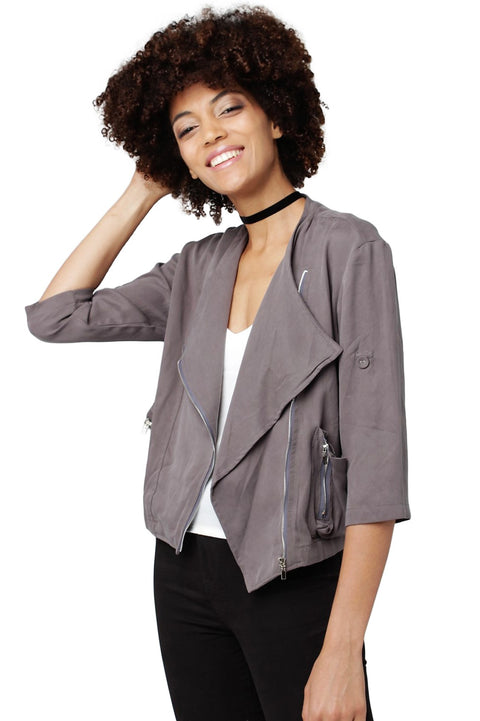 Zip-Front Cotton Jacket