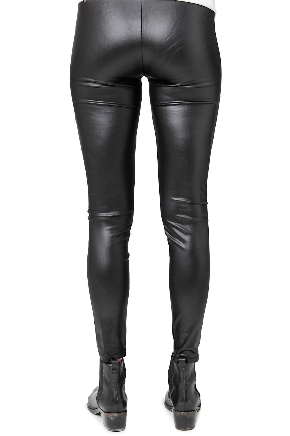 Faux Leather Stripes Leggings