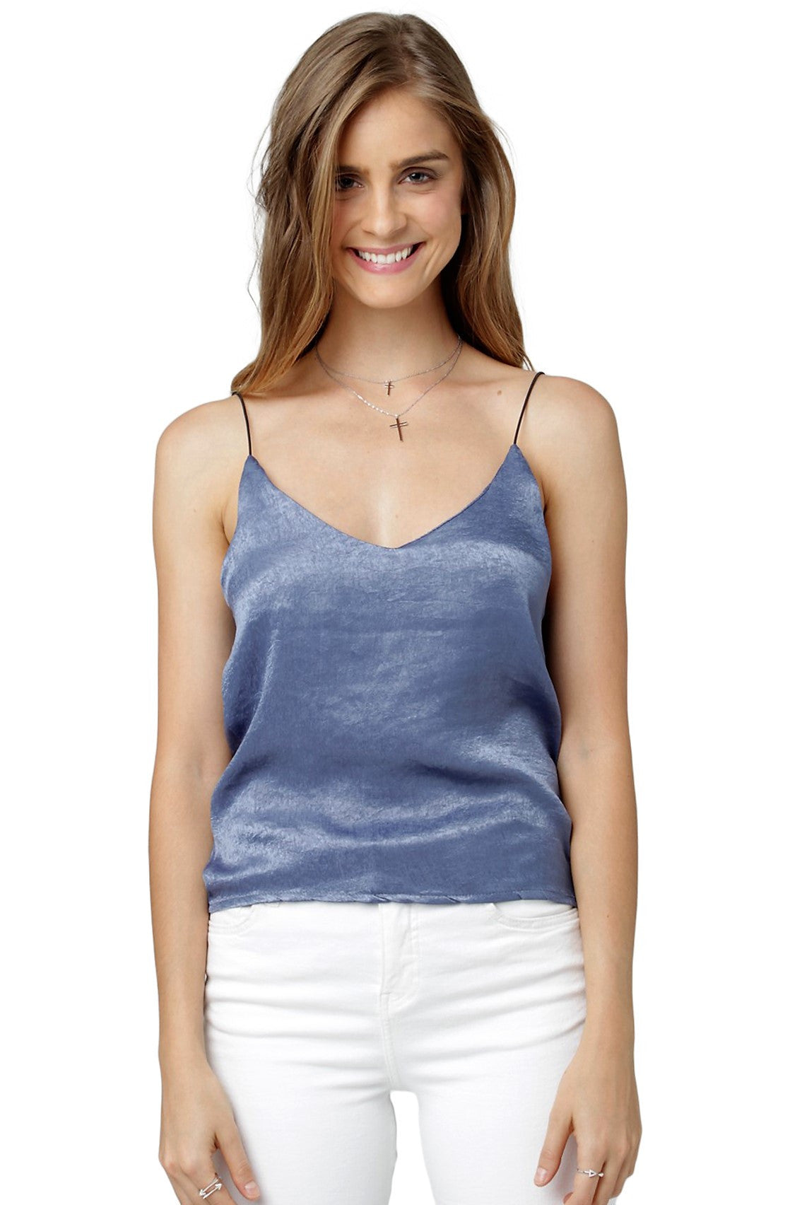 df7ca8a9aaf77 Solid Strappy Tank Top