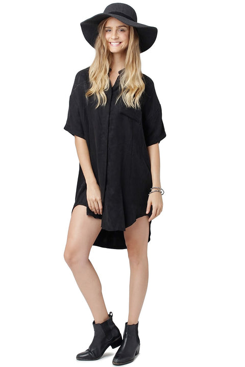 Slim Short-Sleeve Silk Dress
