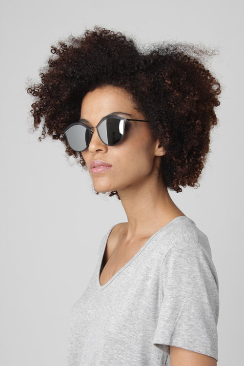 Ultra Thin Mirrored Black Shades