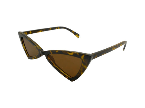Isabelle Triangle Sunglasses // Brown