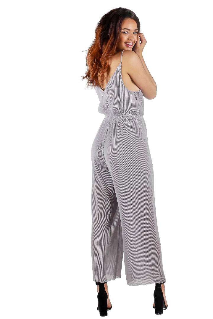 Pleated Jumpsuit // Grey