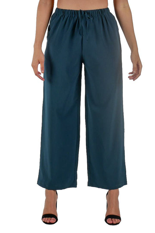 Wide Leg Trousers // Green
