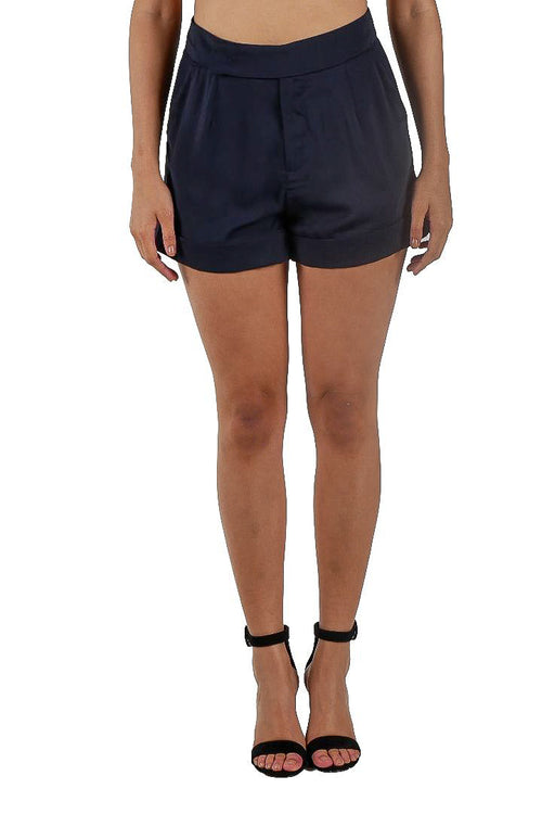 Camilla High Waist Shorts // Navy