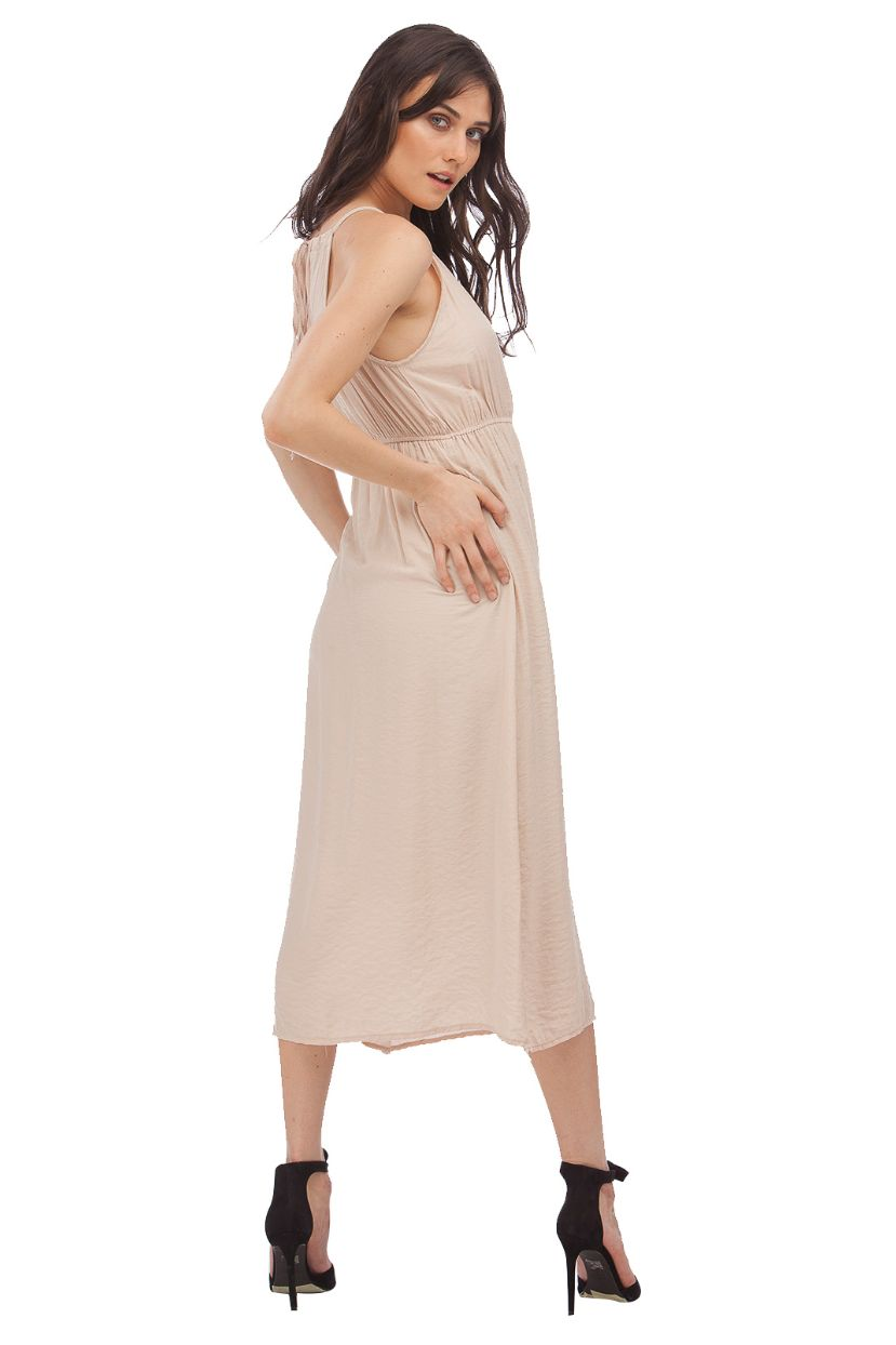 Halter Washed Maxi Dress // Pink