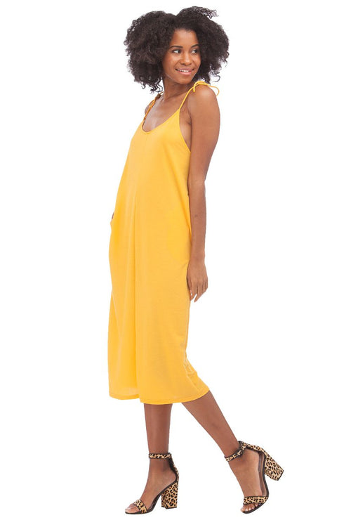 Sunshine Midi Dress // Yellow