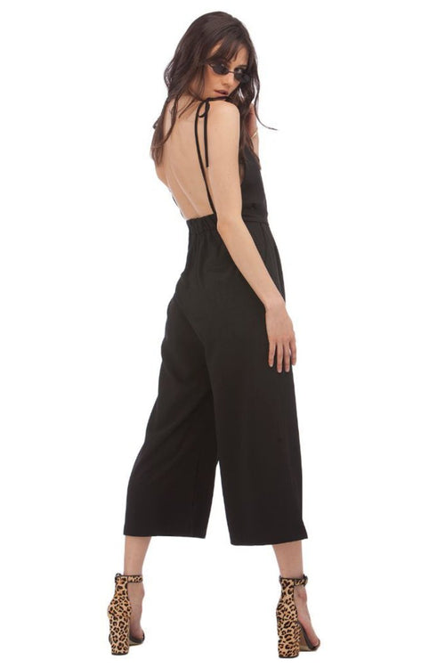 Tie-Shoulder Jumpsuit // Black