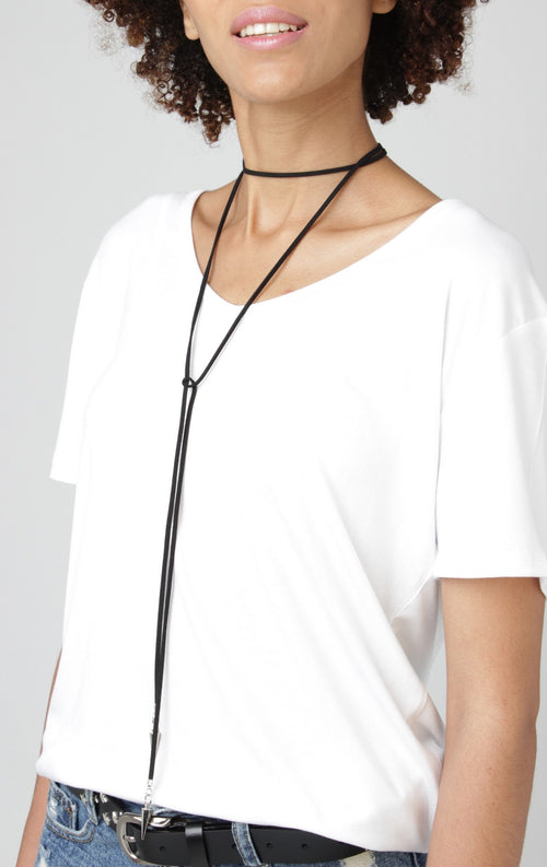 Thin Lasso Wrap Layering Necklace