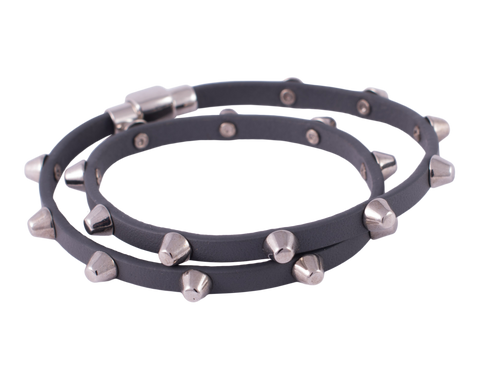 Gorgeous Grey Stud Wrap Bracelet