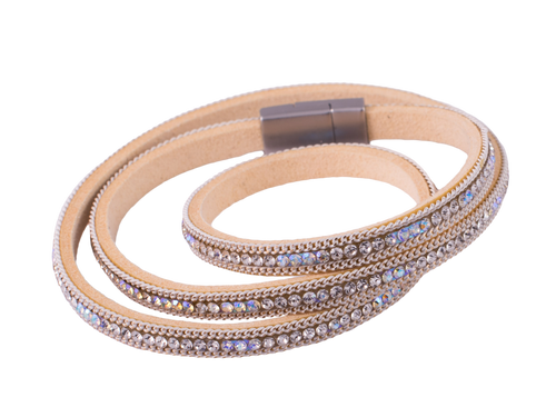Bedazzled White Wrap Bracelet
