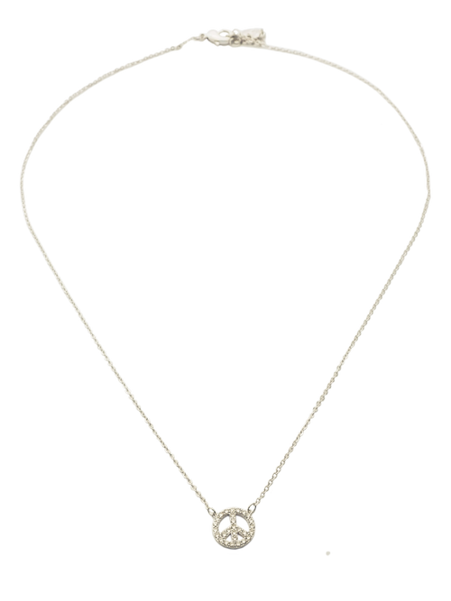 Posh Pave Peace Charm Necklace