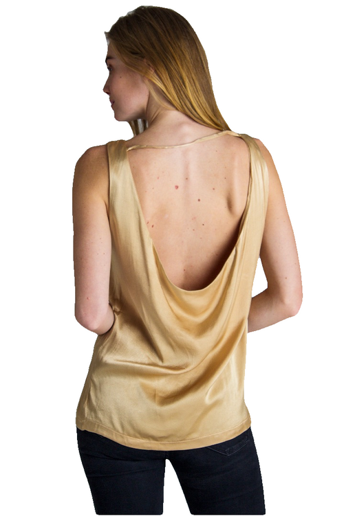 Open Back Sleeveless Tank