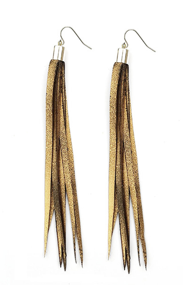 TUBE CAP Earrings- Gold