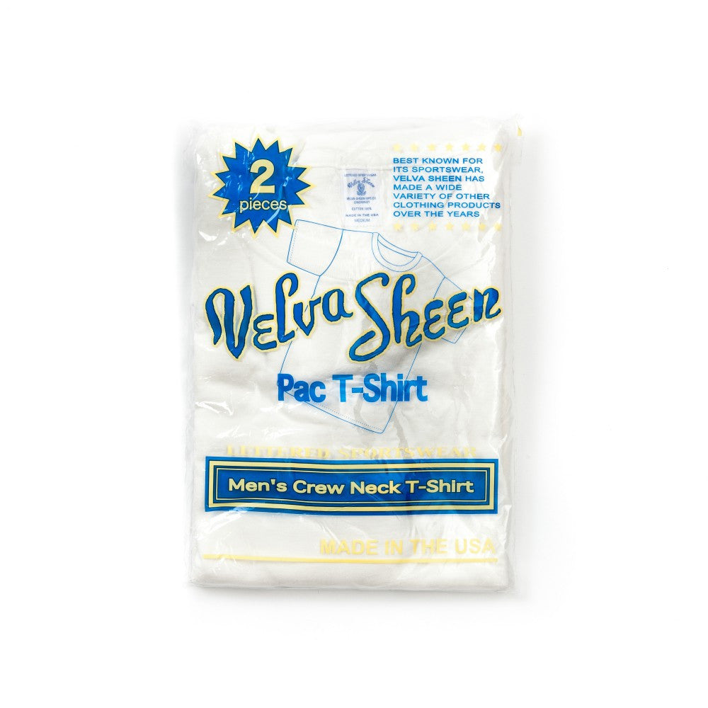 Velva Sheen White 2-Pack Tees