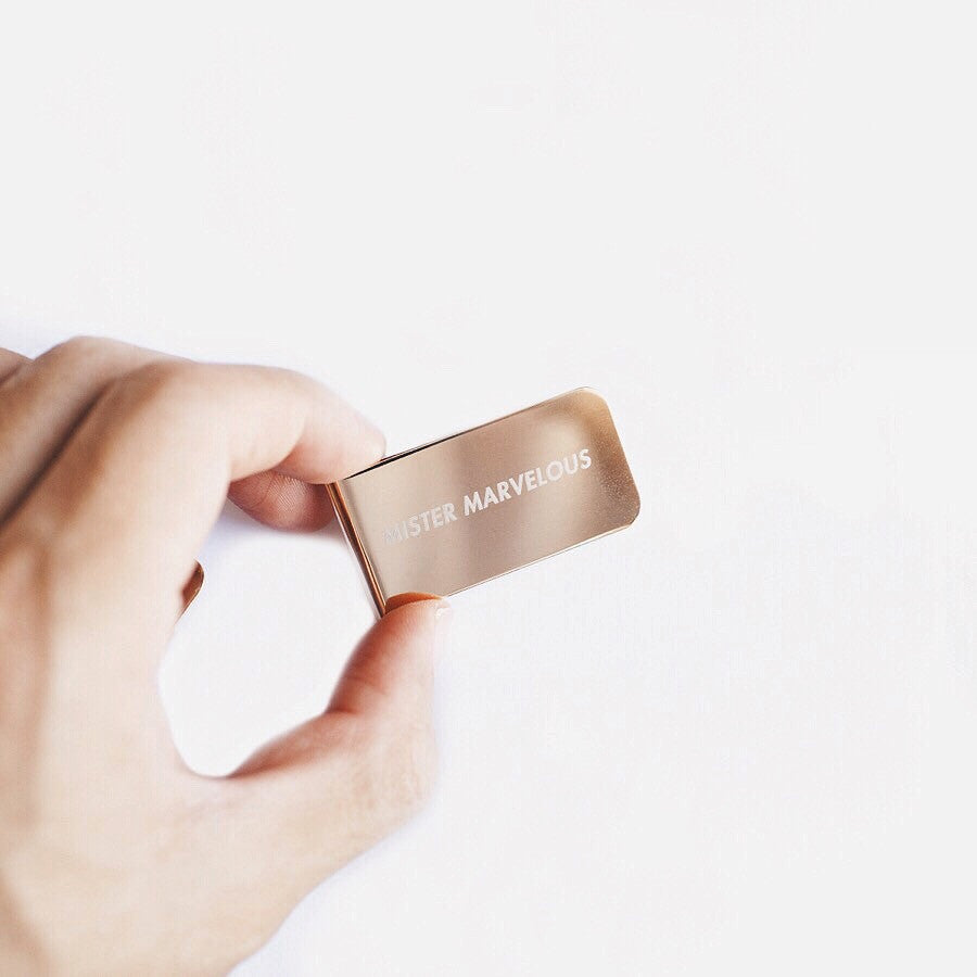 Camper Goods Co. Mister Marvelous Gold Money Clip