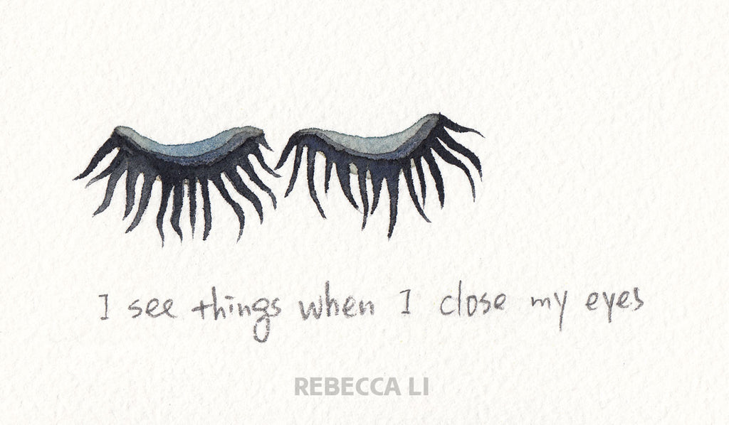 I see things when I close my eyes