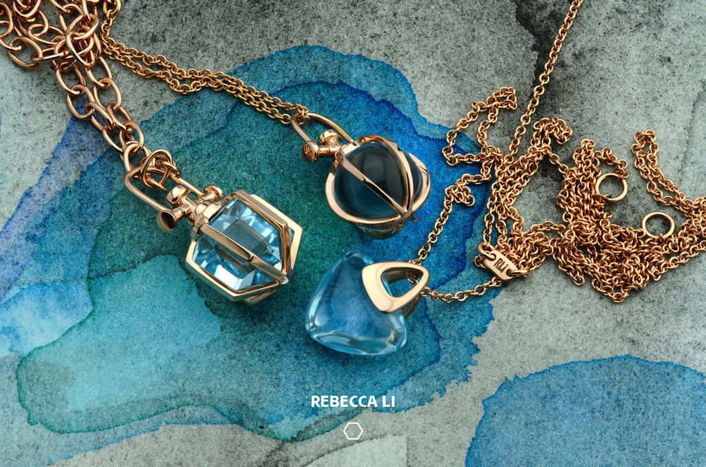 Rebecca Li Loves Blue, Gemstone Talisman Necklaces
