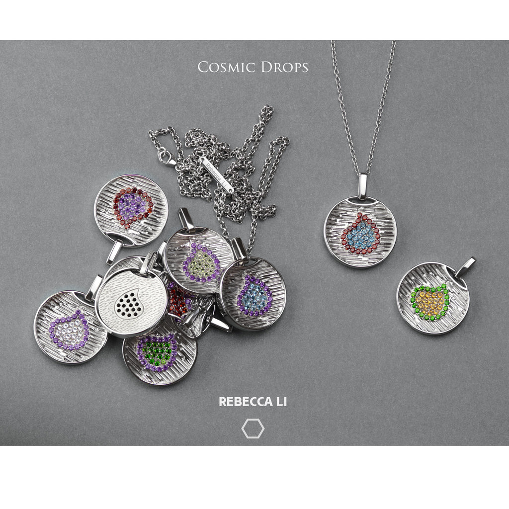 Cosmic Drops Collection, Necklace with Natural Gemstones.
