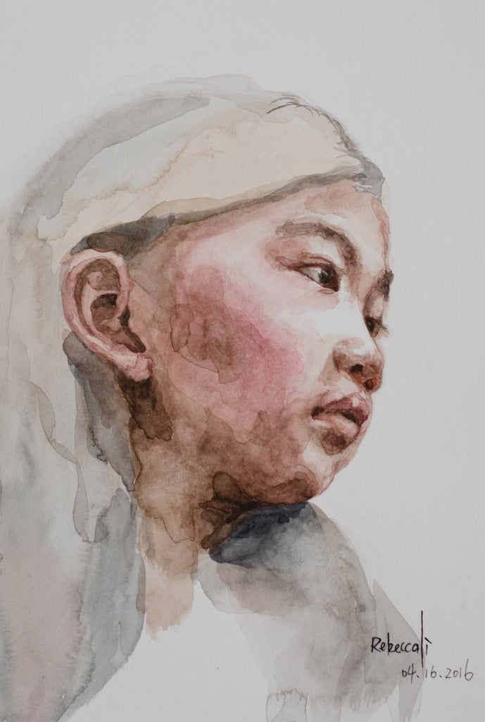 Rebecca Li 3rd watercolor portrait