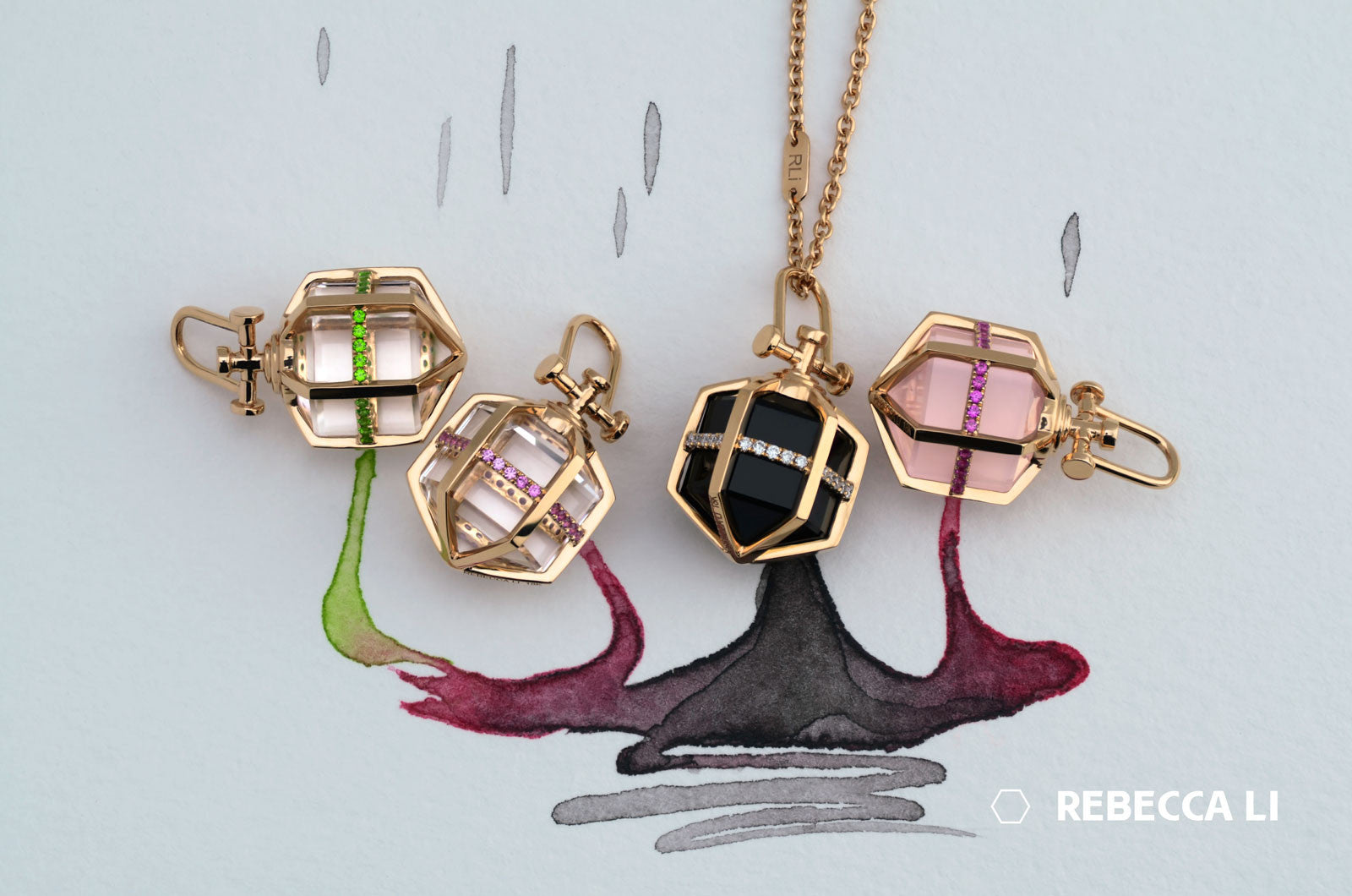 Rebecca Li Medium Six Senses Talisman Color Mix