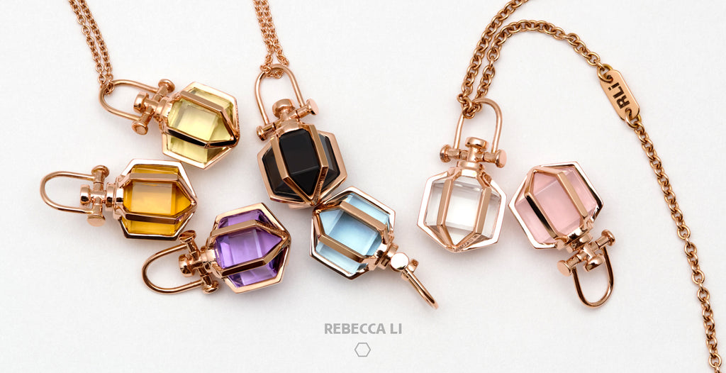 Rebecca Li 14K Rose Gold Mini Six Senses Talisman Necklace