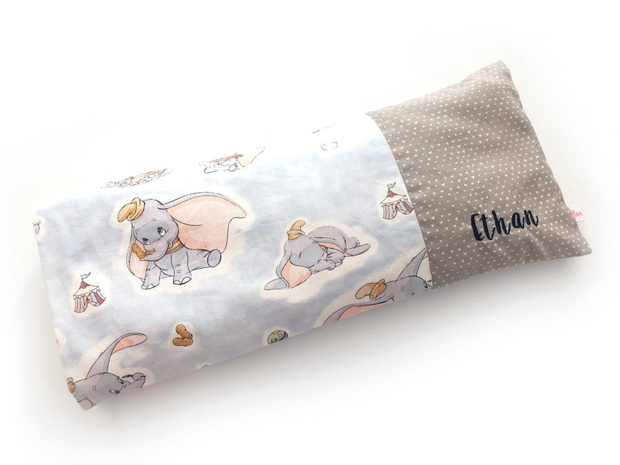 PRE-ORDER Beanie Pillow Dumbo Grey Hearts