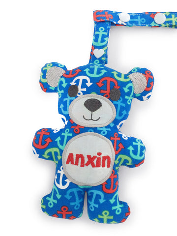 PRE-ORDER Teething Bear Blue Anchor