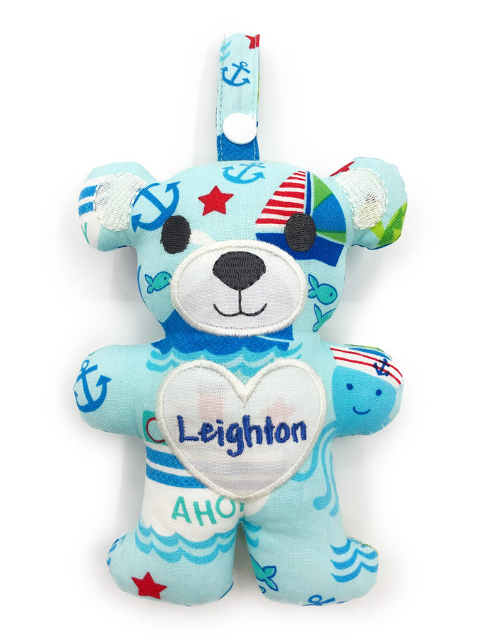 PRE-ORDER Teething Bear Out At Sea Blue
