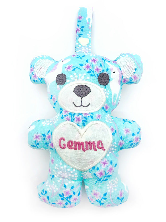 PRE-ORDER Teething Bear Unicorn Aqua