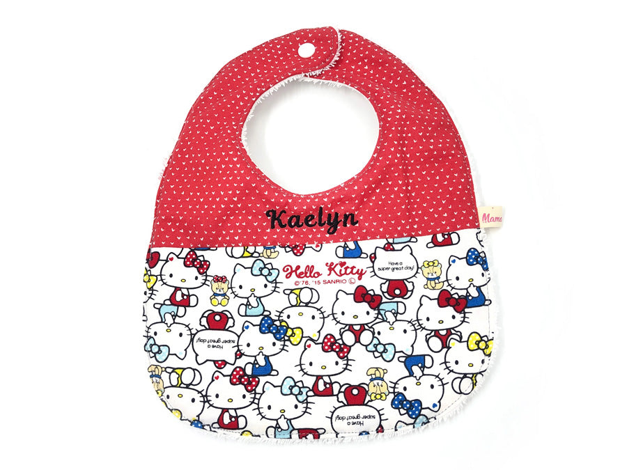 PRE-ORDER Round Bib Red Hello Kitty
